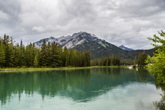 Bow River turquoise water Royalty Free Stock Image