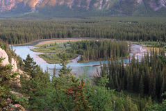 Bow river and valley Stock Photography