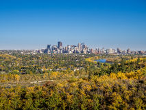 Bow river valley in Calgary Royalty Free Stock Image