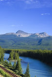 Bow river view. Beautiful bow river in Alberta stock images