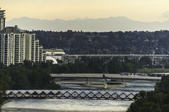 Bow River view. Bow River seen from Calgary downtown royalty free stock images
