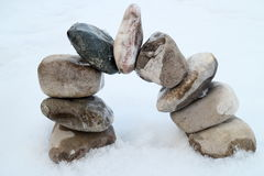 Bow with round different stones Stock Photos