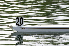 Bow of a rowing skiff. With number 20 on it Royalty Free Stock Image