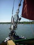 Bow of sailing barge Stock Image
