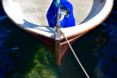 Bow of a sailing dinghy Royalty Free Stock Photo