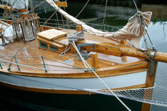 Bow of sailing ship. Bow of traditional, old sailing ship Royalty Free Stock Photo