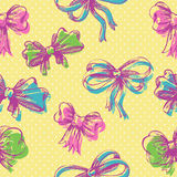 Bow seamless pattern Royalty Free Stock Photography