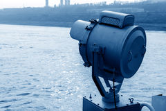 Bow of the searchlight Stock Photography