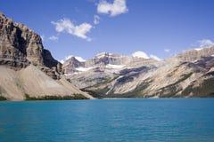 Bow See und Bogengletscher Stockfotografie
