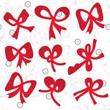 Bow set on the floral pattern Royalty Free Stock Photo