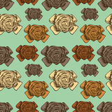 Bow set hand drawn seamless background Royalty Free Stock Images