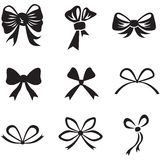 Bow set Royalty Free Stock Photos