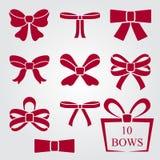 Bow shapes set Royalty Free Stock Photo