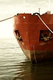 Bow of the ship. Moored in the port Stock Image