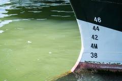 Bow of a ship anchoring Stock Photography
