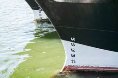 Bow of a ship anchoring Royalty Free Stock Image