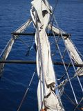 The bow of the ship overlooking the Mediterranean Sea. Near Antaliya royalty free stock photo
