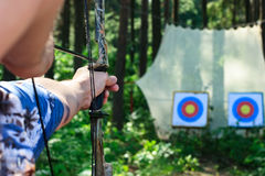 Bow shooting Stock Photography