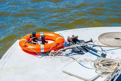 Bow of the small leisure boat Royalty Free Stock Image