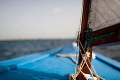 The bow of a small skiff. In Caribbean waters Stock Photography