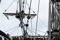 Bow sprit on S/V Galeon, replica of Spanish Galleon Stock Photos