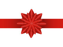 Bow star. Red bow in the form of a star on a white background Stock Image