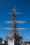 Bow of Statsraad Lehmkuhl sailboat Stock Photo