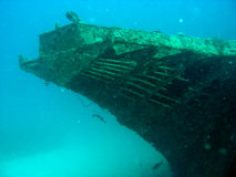 Bow of the Stella Maru wreck. In Mauritius Stock Photo