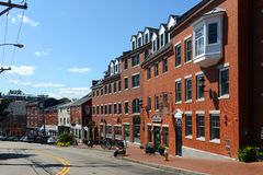 Bow Street, Portsmouth, New Hampshire Royalty Free Stock Photo