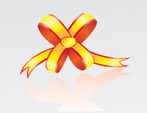 Bow from a tape Royalty Free Stock Photos