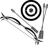 Bow and target Royalty Free Stock Photo