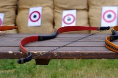 Bow and target Stock Photography