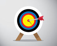 Bow on target Stock Images