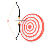 Bow and target Royalty Free Stock Photos