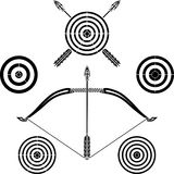 Bow and targets Stock Photos