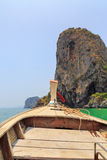 Bow of Thai long tail boat Stock Photos