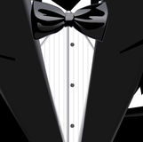 Bow tie. Vector illustration of suit and bow tie Stock Photo