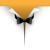 Bow tie. Illustration of the cut paper with a bow tie Stock Images