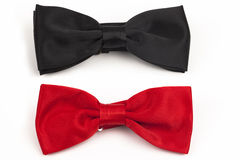 Bow tie. Two Bow tie black and red Royalty Free Stock Photography