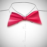 Bow tie on a background sketch the shirt Royalty Free Stock Photography