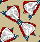 Bow tie. Beautiful american bow tie seamless pattern Stock Image