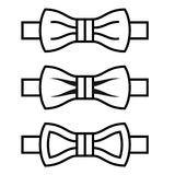 Bow tie black line symbols. Illustration for the web Royalty Free Stock Images
