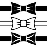Bow tie black symbols Stock Photo