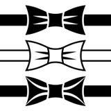 Bow tie black symbols. Illustration for the web Stock Photo