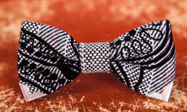 Bow tie with a black and white Royalty Free Stock Images