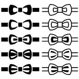 Bow tie black white symbols Royalty Free Stock Image