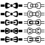 Bow tie black white symbols. Illustration for the web Royalty Free Stock Image