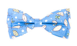 Bow tie blue patterned umbrellas Stock Photography