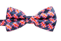 Bow tie with a British flag on an isolated Stock Image