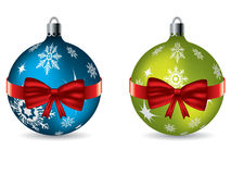 Bow tie christmas decorations Royalty Free Stock Image